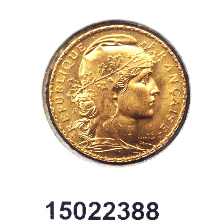 Réf. 15022388 Napoléon 20 Francs Marianne Coq - Liberté Egalité Fraternité (LSP) - AVERS
