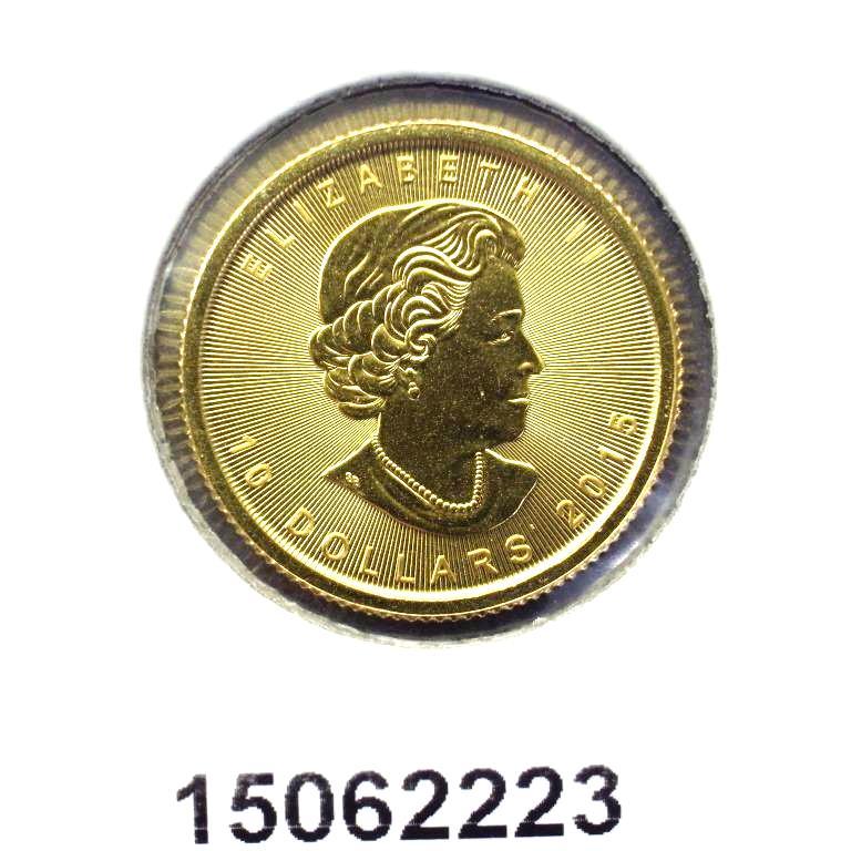 Réf. 15062223 Maple Leaf 1/4 once 10 Dollars Canada Elizabeth II - 9999 - AVERS