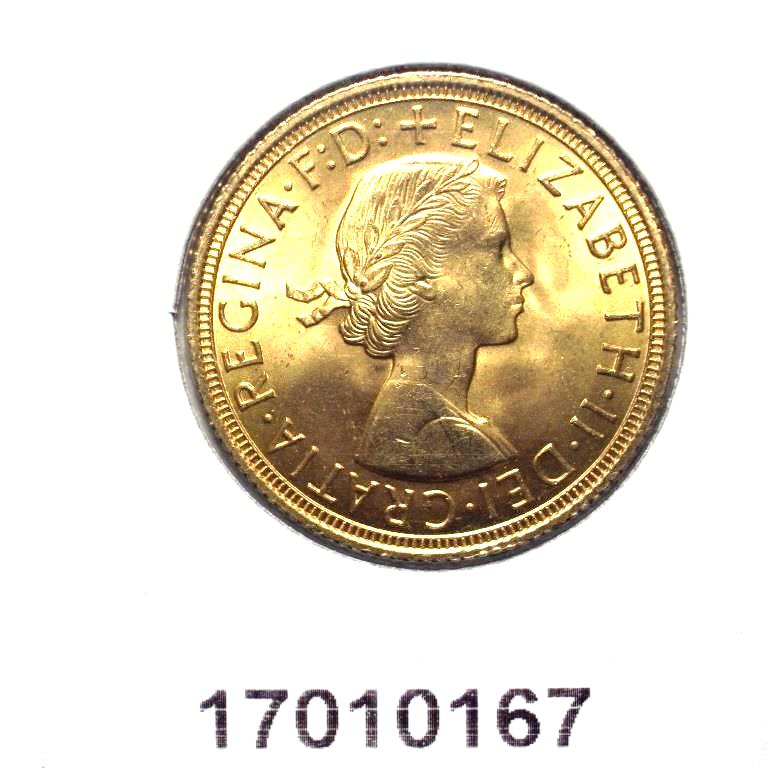 Réf. 17010167 Souverain Elisabeth II  Buste Lauré (1957-1968) (LSP) - AVERS