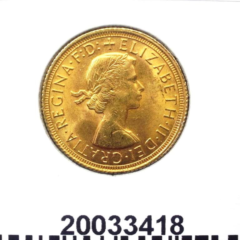 Réf. 20033418 Souverain Elisabeth II  Buste Lauré (1957-1968) (LSP) - AVERS
