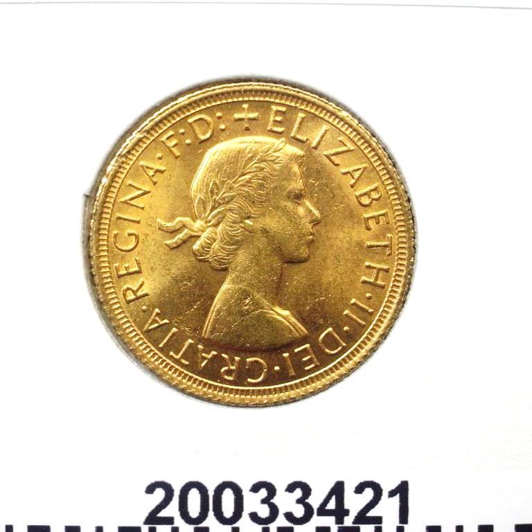 Réf. 20033421 Souverain Elisabeth II  Buste Lauré (1957-1968) (LSP) - AVERS
