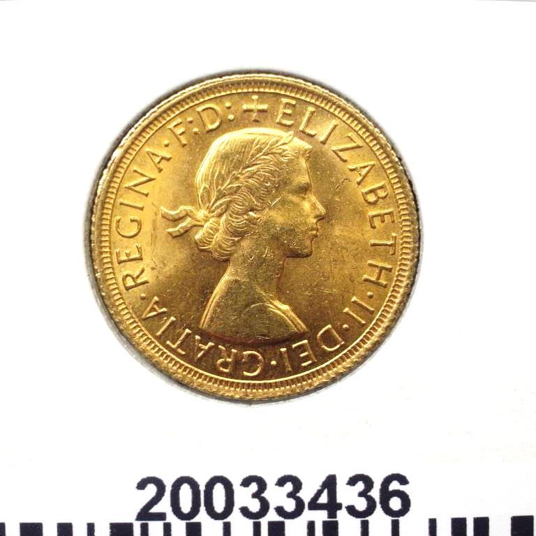 Réf. 20033436 Souverain Elisabeth II  Buste Lauré (1957-1968) (LSP) - AVERS
