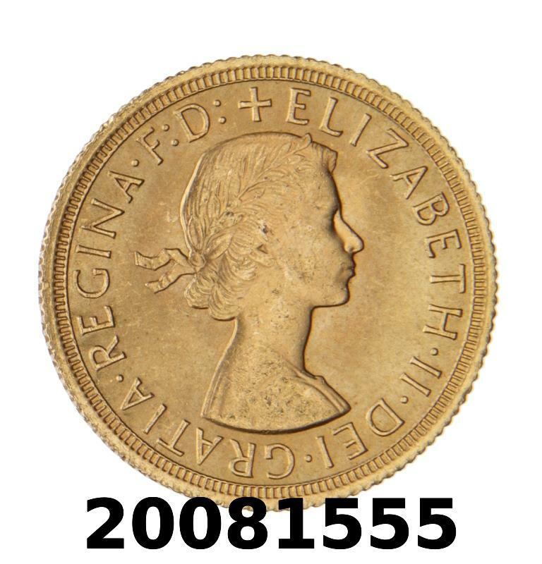 Réf. 20081555 Souverain Elisabeth II  Buste Lauré (1957-1968) (LSP) - AVERS