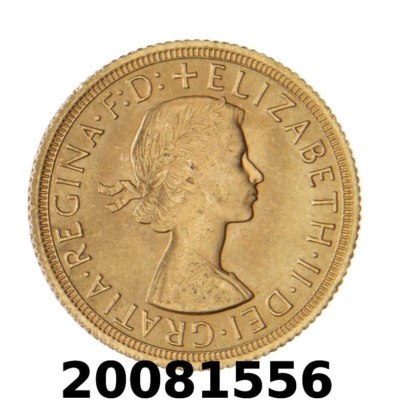 Réf. 20081556 Souverain Elisabeth II  Buste Lauré (1957-1968) (LSP) - AVERS