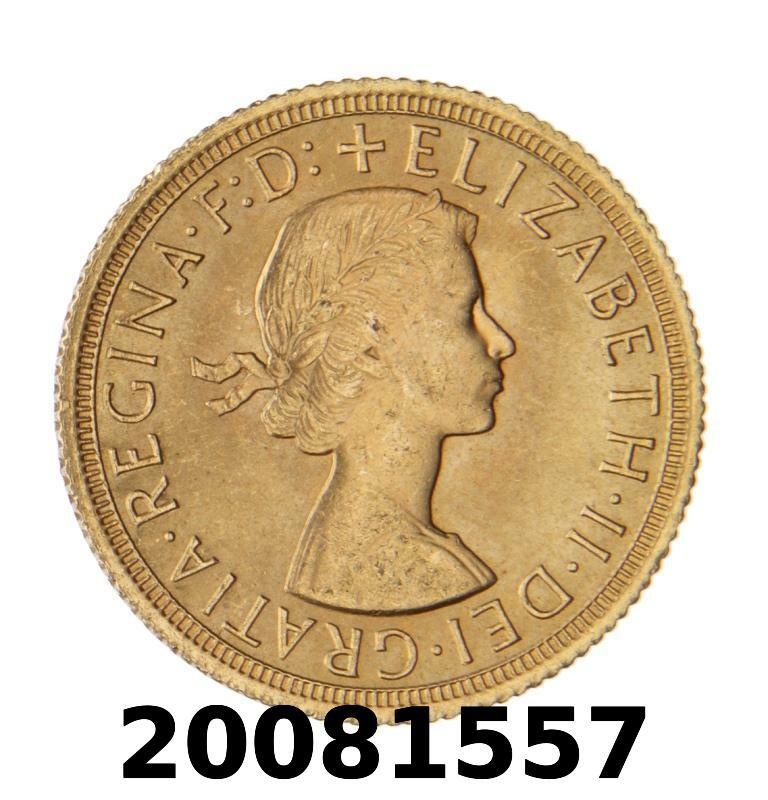 Réf. 20081557 Souverain Elisabeth II  Buste Lauré (1957-1968) (LSP) - AVERS