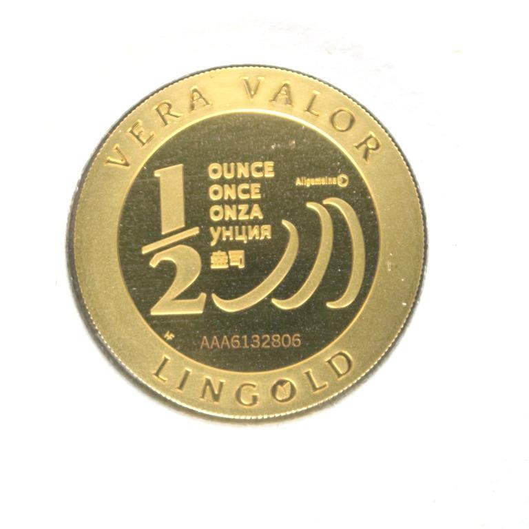 Réf. 6132806 Demi-Vera Valor (1/2 once LSP)  2013 - 5 langues - AVERS