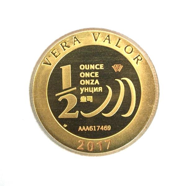 Réf. 617469 Demi-Vera Valor (1/2 once LSP)  2017 - 5 langues - AVERS