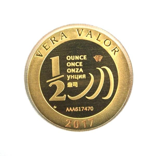 Réf. 617470 Demi-Vera Valor (1/2 once LSP)  2017 - 5 langues - AVERS