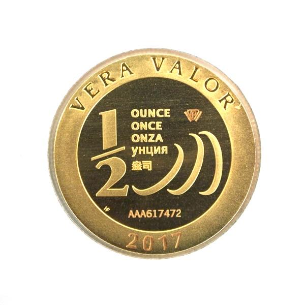 Réf. 617472 Demi-Vera Valor (1/2 once LSP)  2017 - 5 langues - AVERS