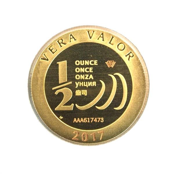 Réf. 617473 Demi-Vera Valor (1/2 once LSP)  2017 - 5 langues - AVERS