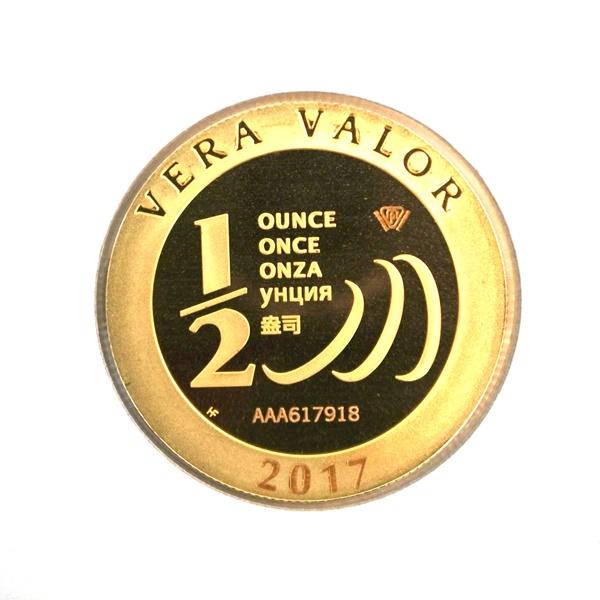 Réf. 617918 Demi-Vera Valor (1/2 once LSP)  2017 - 5 langues - AVERS