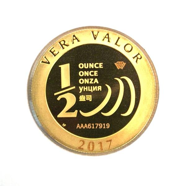 Réf. 617919 Demi-Vera Valor (1/2 once LSP)  2017 - 5 langues - AVERS