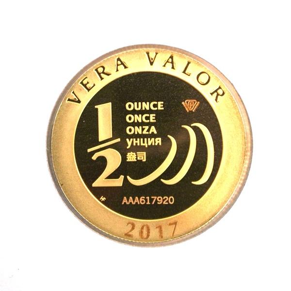 Réf. 617920 Demi-Vera Valor (1/2 once LSP)  2017 - 5 langues - AVERS