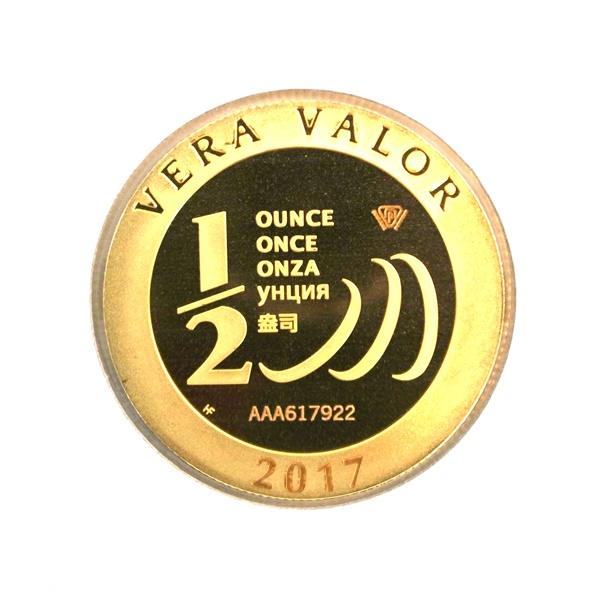 Réf. 617922 Demi-Vera Valor (1/2 once LSP)  2017 - 5 langues - AVERS