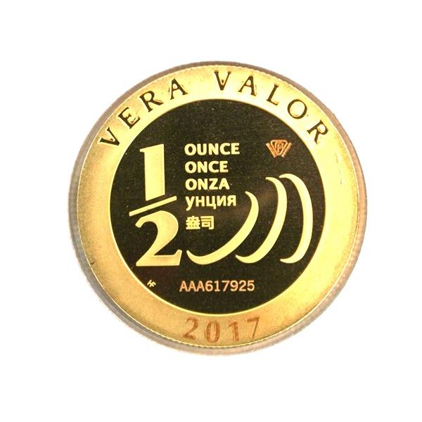 Réf. 617925 Demi-Vera Valor (1/2 once LSP)  2017 - 5 langues - AVERS