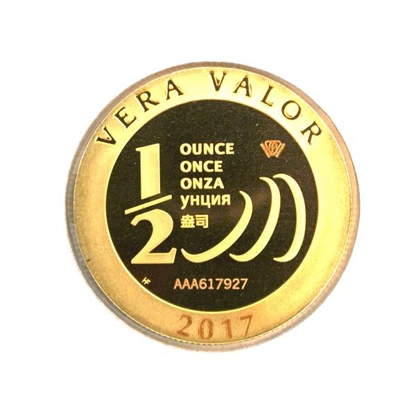 Réf. 617927 Demi-Vera Valor (1/2 once LSP)  2017 - 5 langues - AVERS