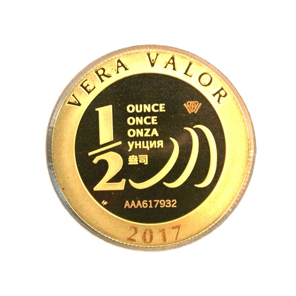 Réf. 617932 Demi-Vera Valor (1/2 once LSP)  2017 - 5 langues - AVERS