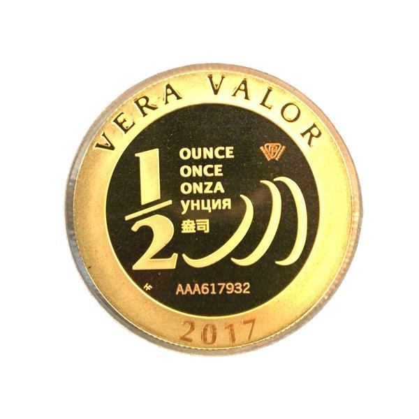 Réf. 617932 Demi-Vera Valor (1/2 once LSP)  2017 - 5 langues - AVERS