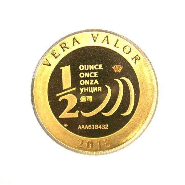 Réf. 618432 Demi-Vera Valor (1/2 once LSP)  2018 - 5 langues - AVERS