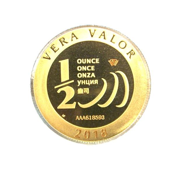 Réf. 618593 Demi-Vera Valor (1/2 once LSP)  2018 - 5 langues - AVERS