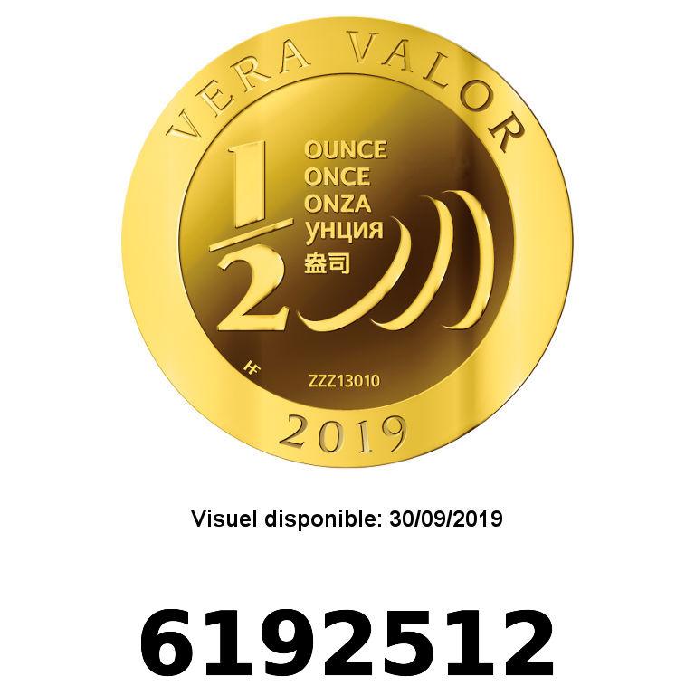 Réf. 6192512 Demi-Vera Valor (1/2 once LSP)  2019 - 5 langues - AVERS