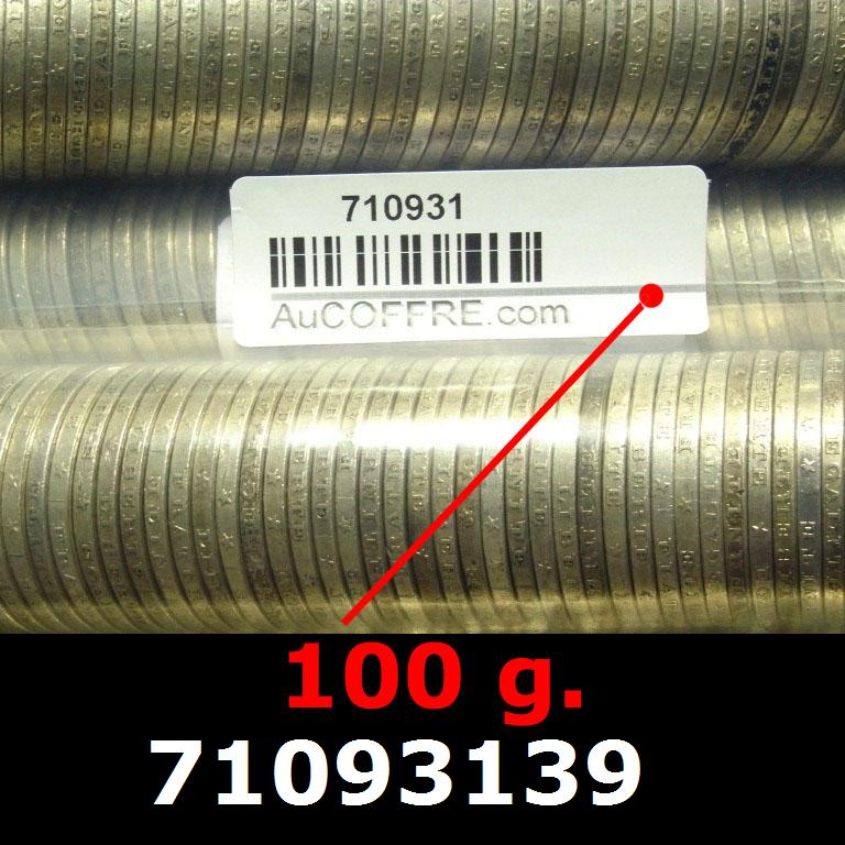 Réf. 71093139 100 grammes d\'argent pur - 5 Francs Semeuses (LSP)  Issu d un lot de 1000 Semeuses 5F - AVERS