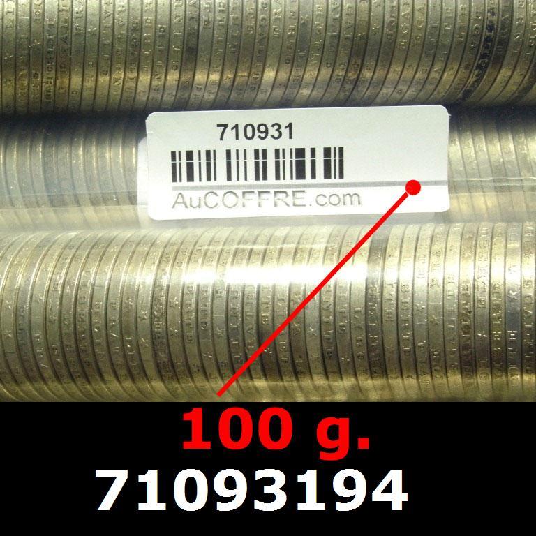 Réf. 71093194 100 grammes d\'argent pur - 5 Francs Semeuses (LSP)  Issu d un lot de 1000 Semeuses 5F - AVERS