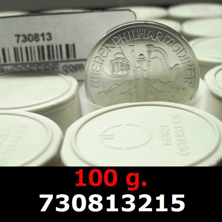 Réf. 730813215 100 grammes d\'argent pur - Philharmonique de Vienne (LSP)  Issu d un lot de 1000 pièces d une once - AVERS