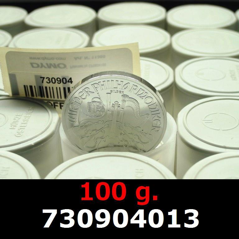 Réf. 730904013 100 grammes d\'argent pur - Philharmonique de Vienne (LSP)  Issu d un lot de 1000 pièces d une once - AVERS