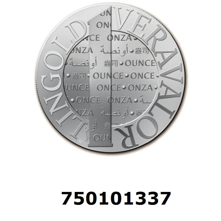 Réf. 750101337 Vera Silver 1 once (LSP)  2015 - AVERS
