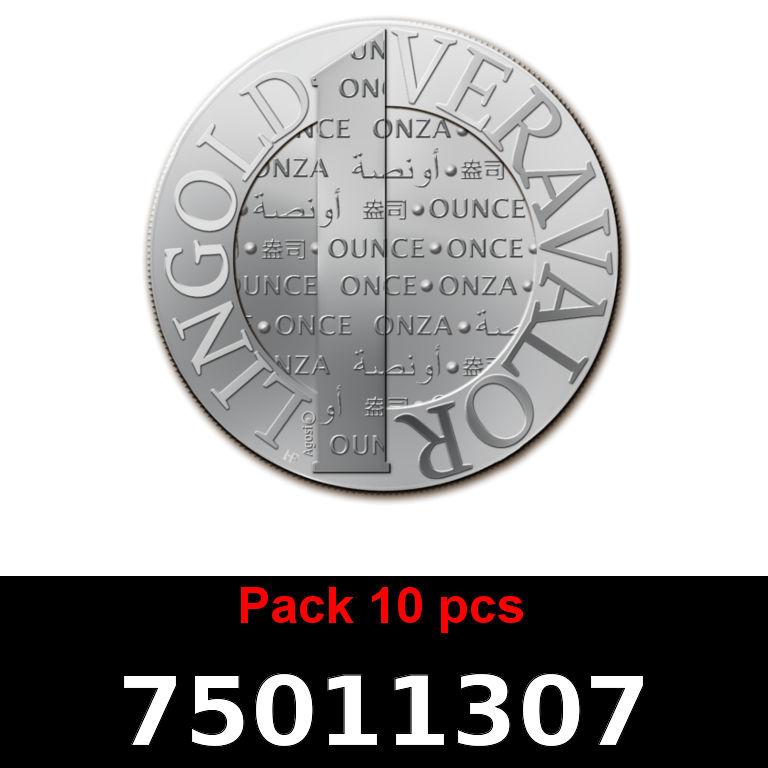 Réf. 75011307 Lot 10 Vera Silver 1 once (LSP)  2015 - AVERS