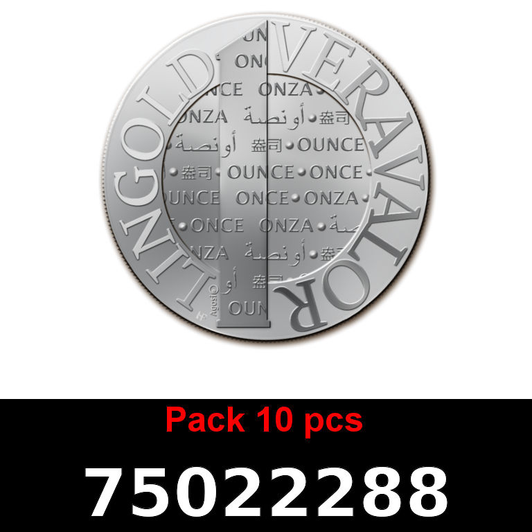 Réf. 75022288 Lot 10 Vera Silver 1 once (LSP)  2015 - AVERS