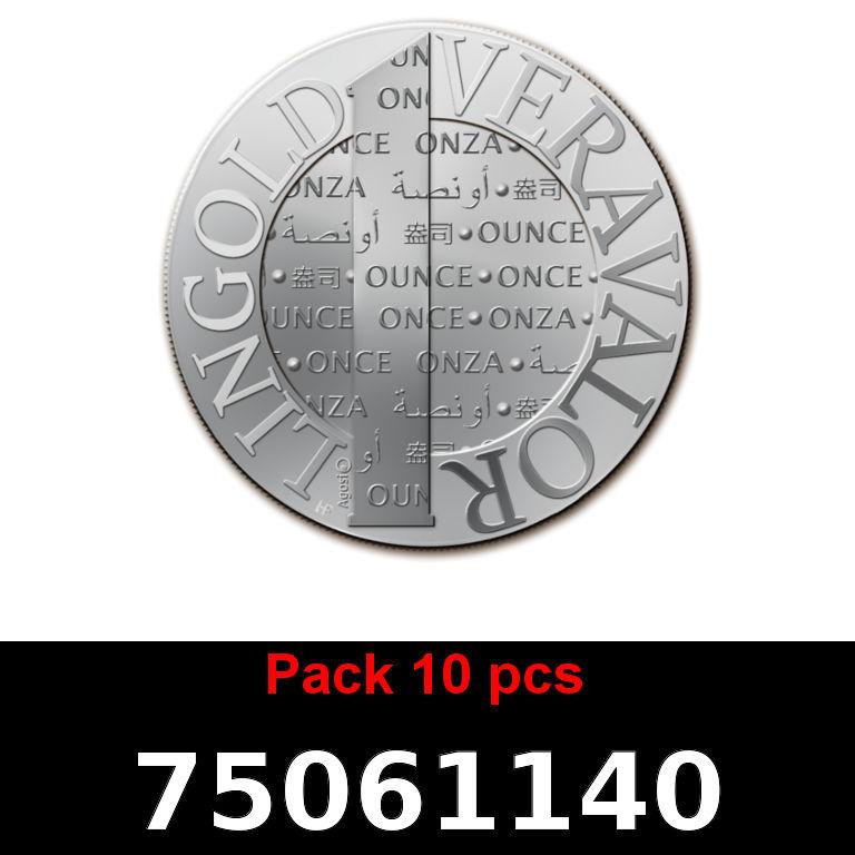 Réf. 75061140 Lot 10 Vera Silver 1 once (LSP)  2015 - AVERS