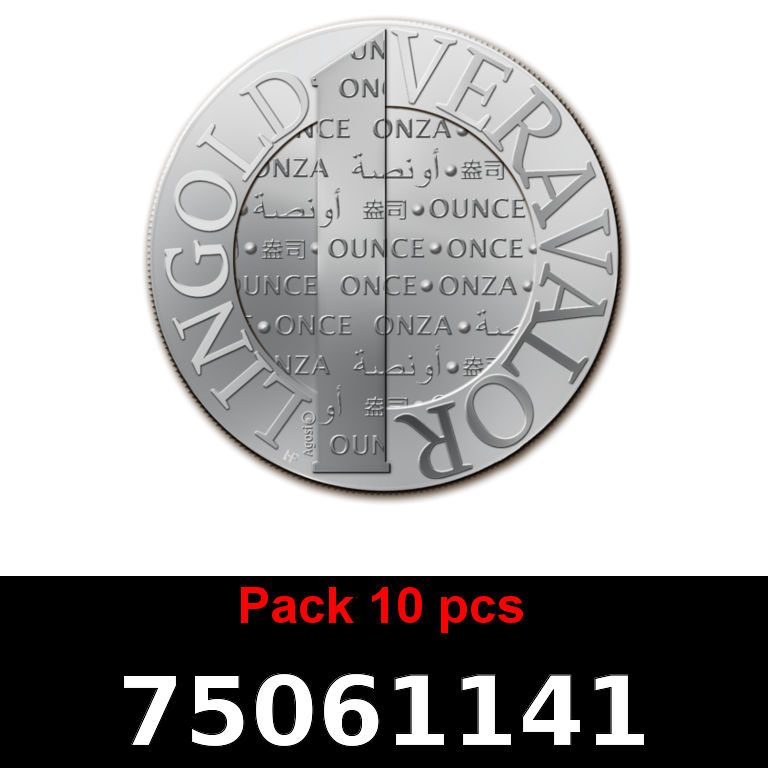 Réf. 75061141 Lot 10 Vera Silver 1 once (LSP)  2015 - AVERS