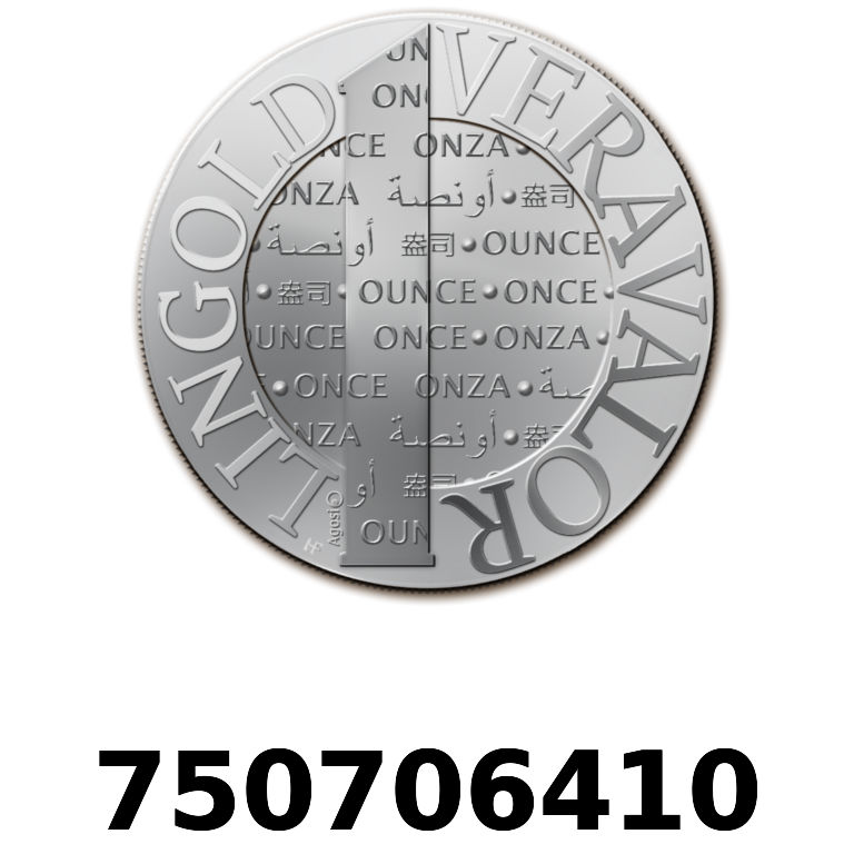 Réf. 750706410 Vera Silver 1 once (LSP)  2015 - AVERS