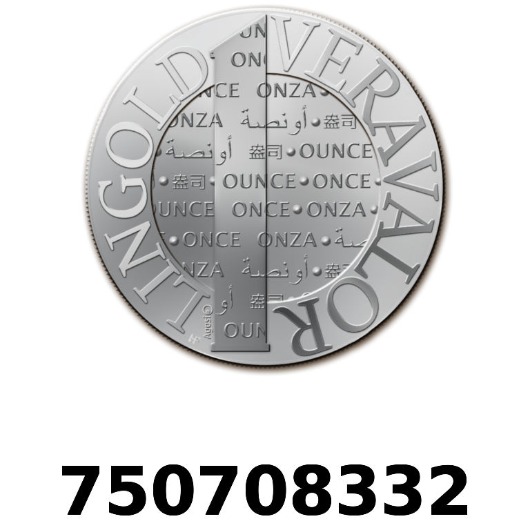 Réf. 750708332 Vera Silver 1 once (LSP)  2015 - AVERS