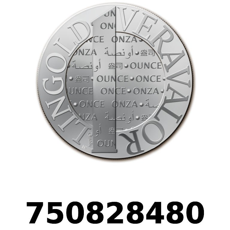 Réf. 750828480 Vera Silver 1 once (LSP)  2015 - AVERS