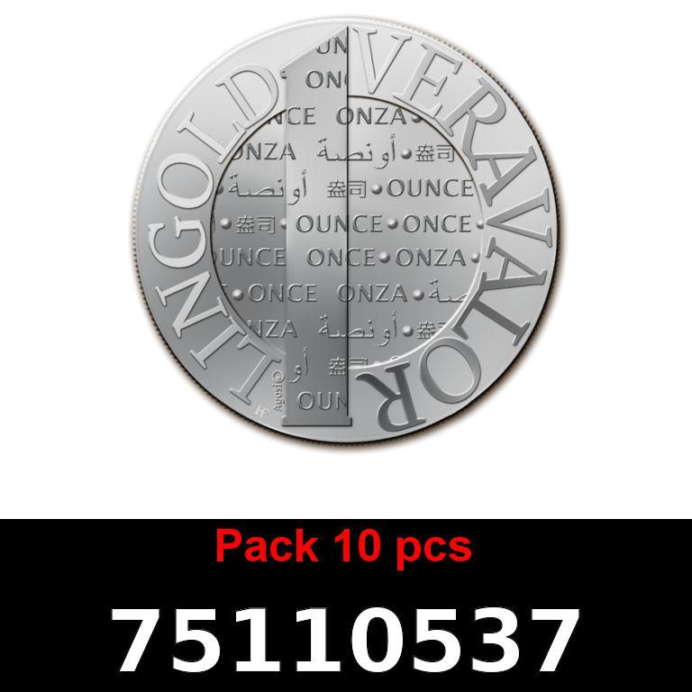 Réf. 75110537 Lot 10 Vera Silver 1 once (LSP)  2015 - AVERS