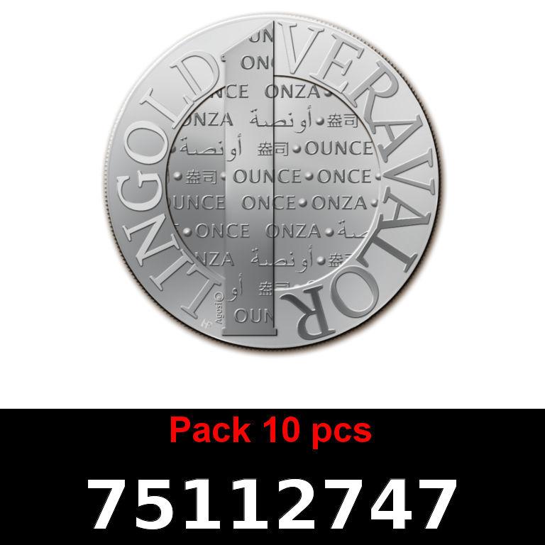 Réf. 75112747 Lot 10 Vera Silver 1 once (LSP)  2015 - AVERS