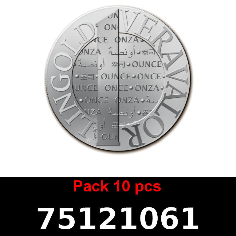Réf. 75121061 Lot 10 Vera Silver 1 once (LSP)  2015 - AVERS
