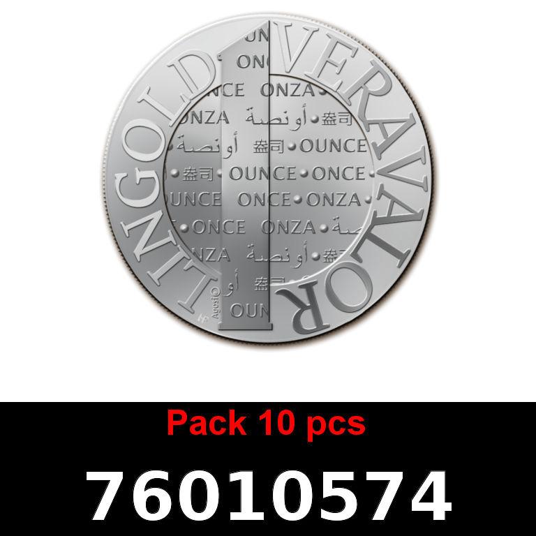 Réf. 76010574 Lot 10 Vera Silver 1 once (LSP)  2015 - AVERS