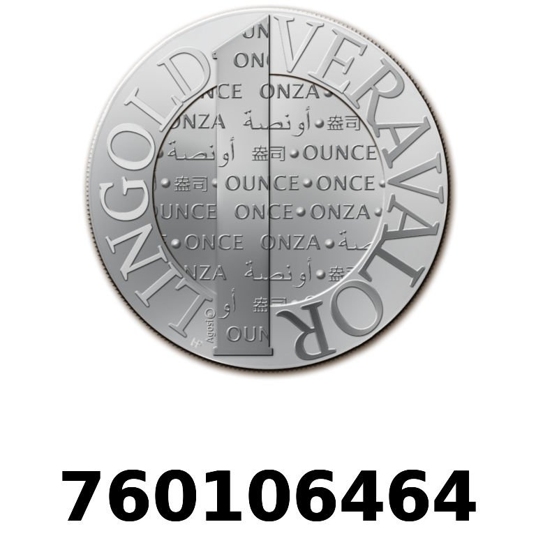 Réf. 760106464 Vera Silver 1 once (LSP)  2015 - AVERS
