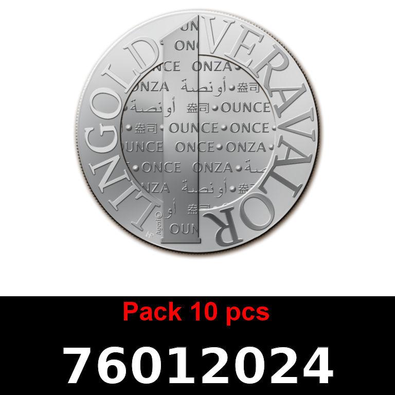 Réf. 76012024 Lot 10 Vera Silver 1 once (LSP)  2015 - AVERS