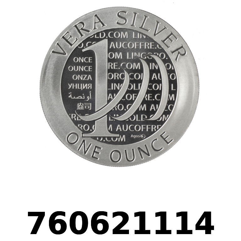 Réf. 760621114 Vera Silver 1 once (LSP)  2015 - AVERS