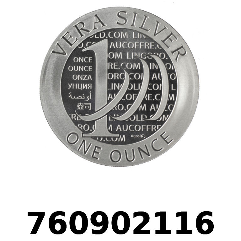 Réf. 760902116 Vera Silver 1 once (LSP)  2015 - 2eme type - AVERS