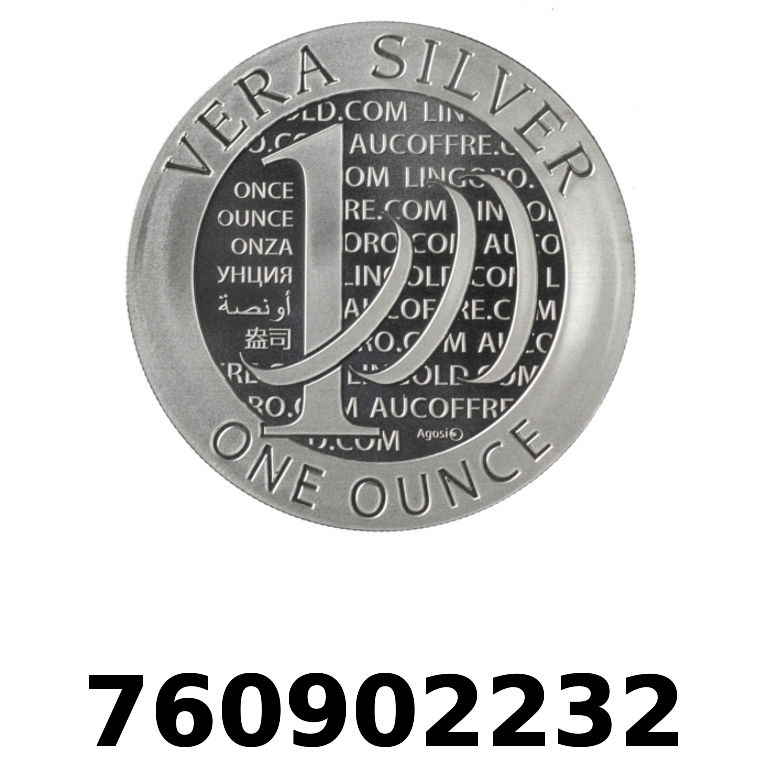 Réf. 760902232 Vera Silver 1 once (LSP)  2015 - 2eme type - AVERS