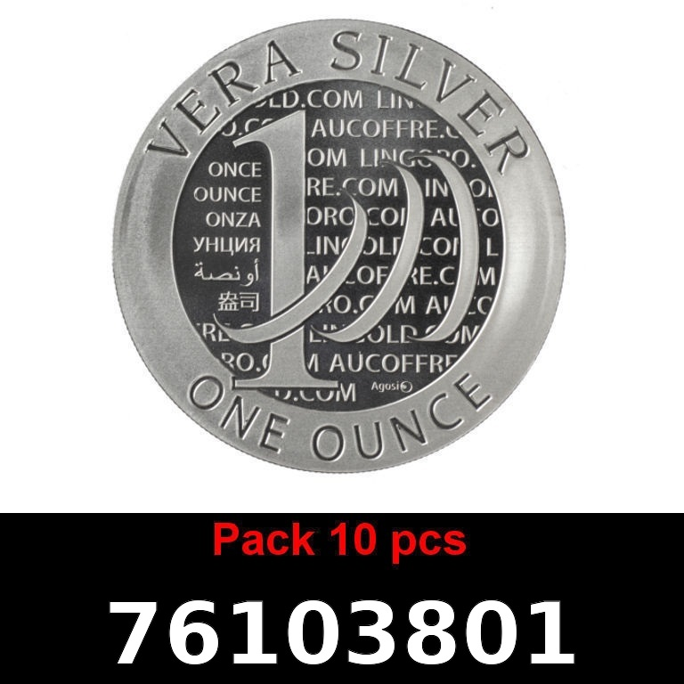 Réf. 76103801 Lot 10 Vera Silver 1 once (LSP)  2015 - 2eme type - AVERS