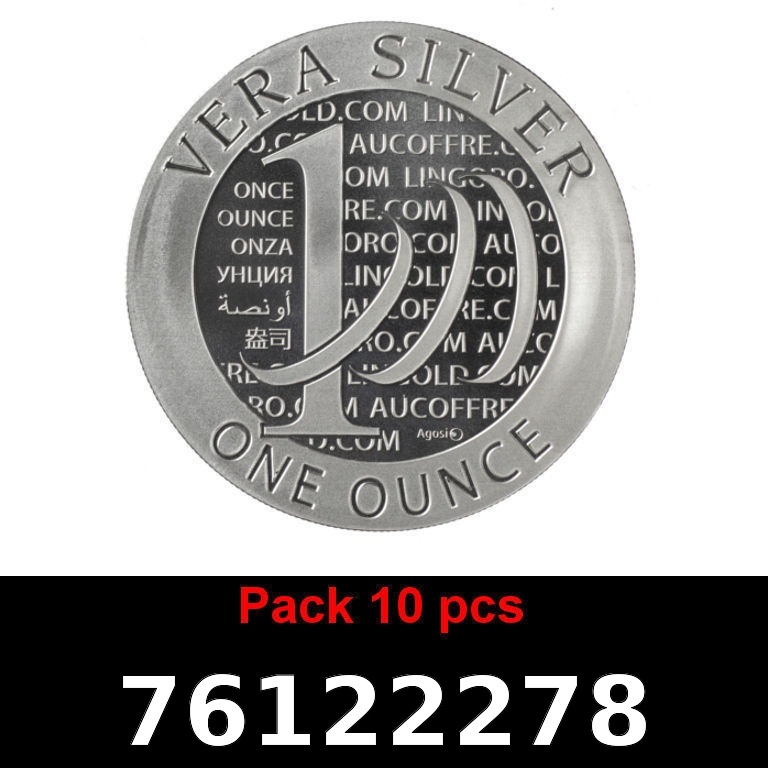 Réf. 76122278 Lot 10 Vera Silver 1 once (LSP)  2015 - 2eme type - AVERS