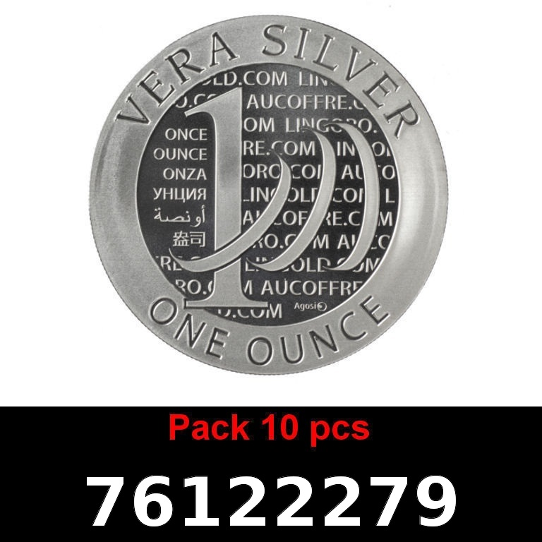 Réf. 76122279 Lot 10 Vera Silver 1 once (LSP)  2015 - 2eme type - AVERS