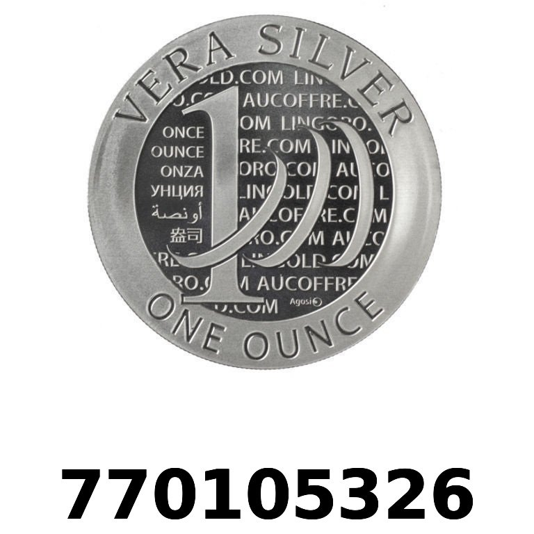 Réf. 770105326 Vera Silver 1 once (LSP)  2015 - 2eme type - AVERS